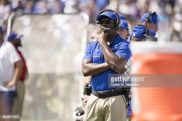 Buffalo Bills assistant coach / running backs coach Anthony Lynn on sidelines during game vs Baltimore Ravens at MT Bank Stadium Baltimore MD CREDIT...