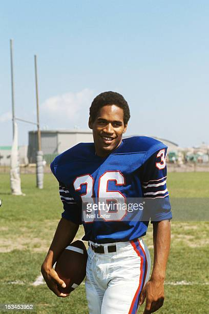Buffalo Bills OJ Simpson during training camp at Niagara University Lewiston NY CREDIT Neil Leifer