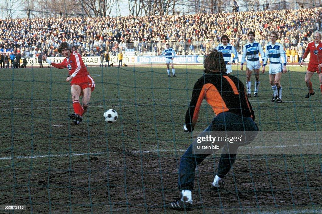 Schreiner Duisburg football bundesliga 1981 1982 wedau stadium msv duisburg versus