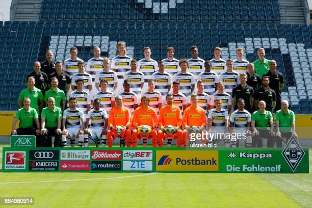 football Bundesliga 2016/2017 team shot o f Borussia Moenchengladbach row1fa fltr rehab coach Andreas Bluhm Andreas Christensen Christoph Kramer...