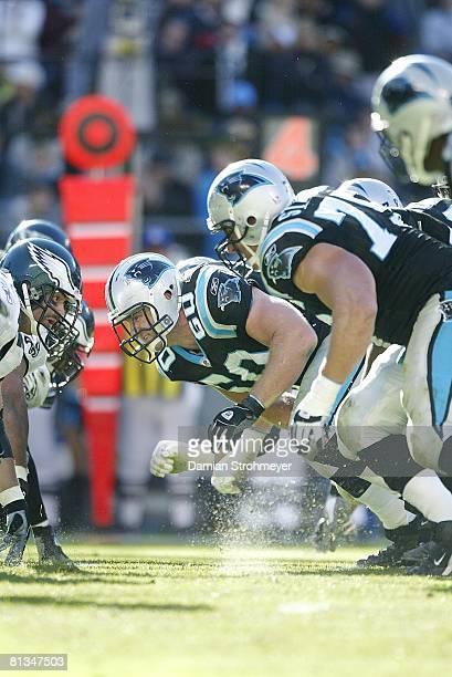 Football: Carolina Panthers Jeff Mitchell in action vs Philadelphia Eagles Charlotte, NC