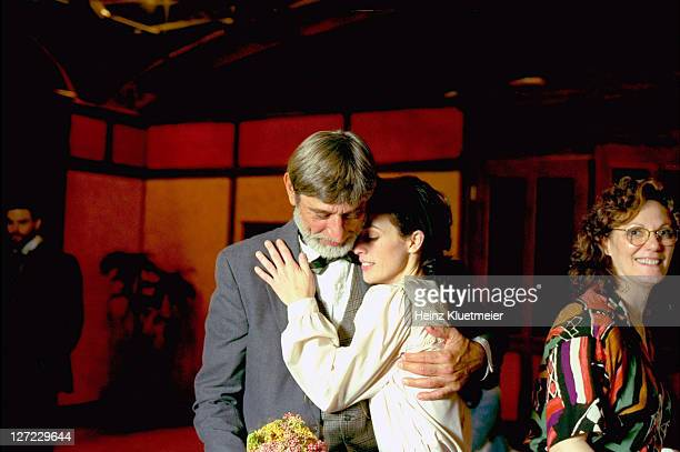Casual portrait of Joe Namath with wife Tatiana, after a performance of The Seagull at the arcLight Theater. New York, NY 6/24/1997 CREDIT: Heinz...