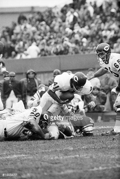Football Chicago Bears Brian Piccolo in action vs Minnesota Vikings Chicago IL 11/2/1969