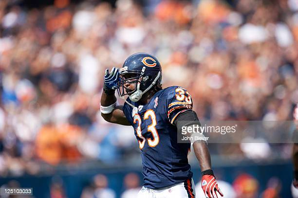 Chicago Bears Charles Tillman victorious during game vs Atlanta Falcons at Soldier Field Chicago IL CREDIT John Biever