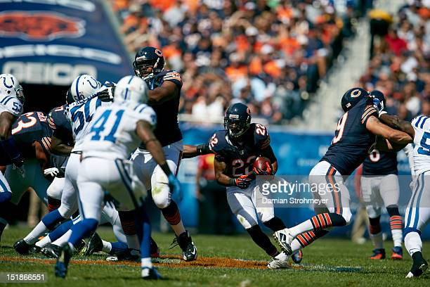 Chicago Bears Matt Forte in action rushing vs Indianapolis Colts at Soldier Field Chicago IL CREDIT Damian Strohmeyer