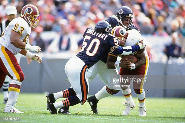 Chicago Bears Mike Singletary in action tackle vs Washington Redskins at Soldier Field Chicago IL CREDIT John Biever