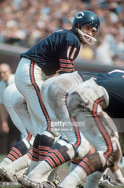 Football Chicago Bears QB Jack Concannon before snap during game vs Washington Redskins Chicago IL 9/15/1968