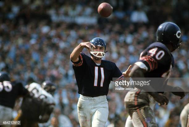 Chicago Bears QB Jack Concannon in action passing vs Washington Redskins at Wrigley Field Chicago IL CREDIT Walter Iooss Jr