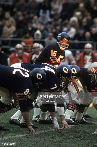 Chicago Bears QB Virgil Carter calling signals during game vs San Francisco 49ers at Wrigley Field Chicago IL CREDIT Lee Balterman