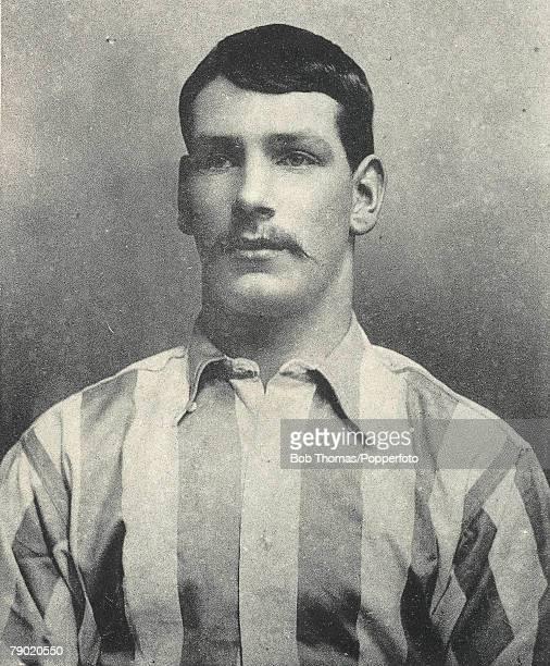 Football Circa 1900 A portrait of William Layton of Sheffield Wednesday FC