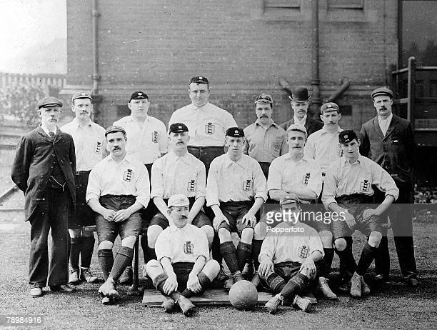 Football Circa 1902 A remarkable photograph of the Sheffield United team with all of the players wearing their International caps and jerseys The...