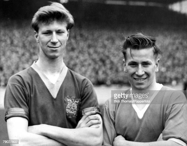 Football, Circa 1957, A picture of the Charlton brothers, Jack and Bobby, members of the victorious 1966 World Cup England side, seen here on...