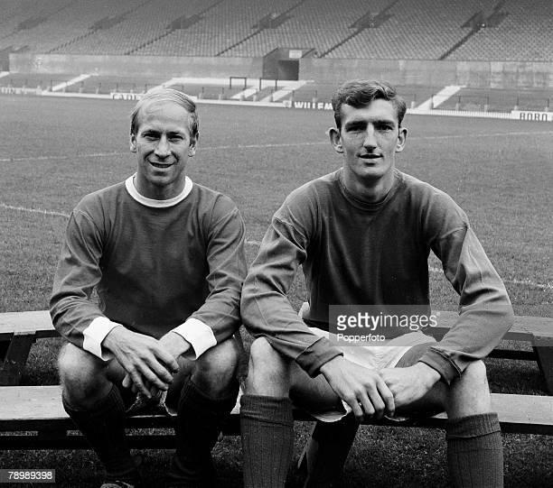 Football Circa 1960/70's Portraits of Bobby Charlton and Alex Stepney of Manchester United