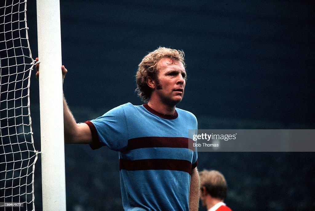 Football. Circa 1970's. Bobby Moore of West Ham Utd. : News Photo