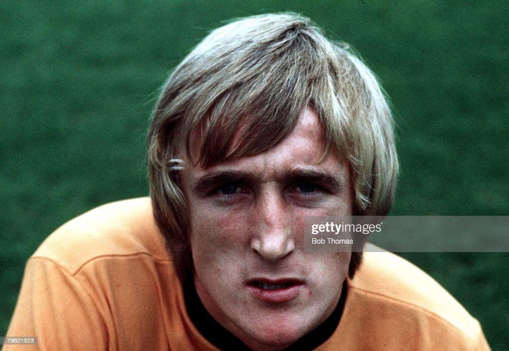 Football. Circa 1970's. Derek Parkin of Wolverhampton Wanderers. : News Photo