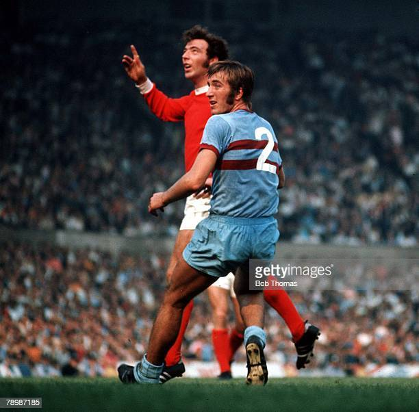 Football Circa 1970's Manchester United v West Ham Utd Billy Bonds of West Ham in action