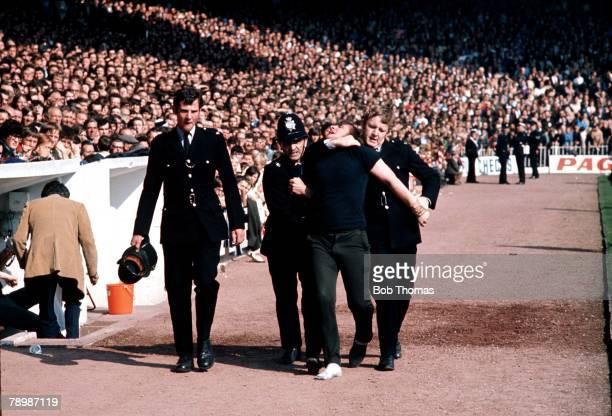 Football Circa 1970's Police arrest a violent fan at Sheffield United