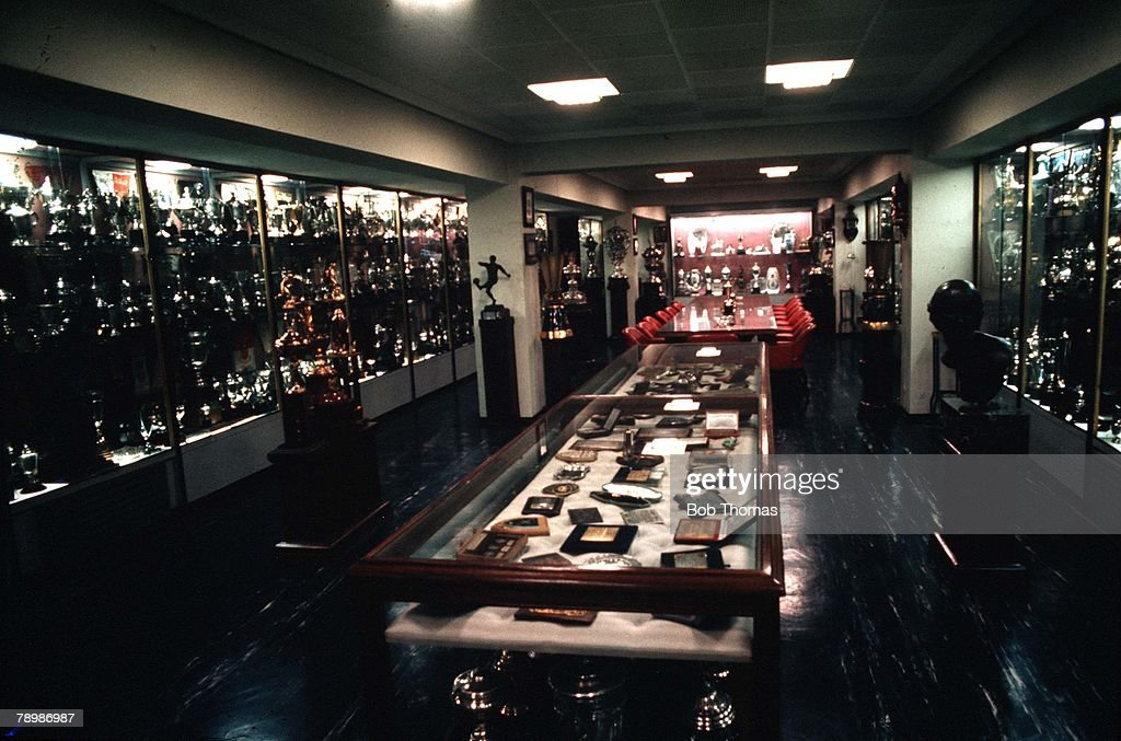 Football Circa 1970s Spain The Trophy Room At Real Madrids Bernabeu Stadium