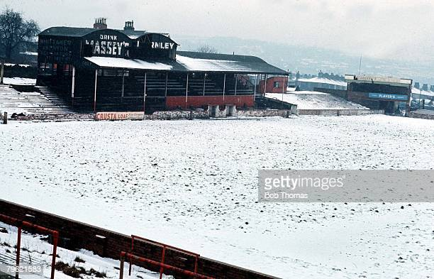 Football Circa 1970's The now defunct former League Club Accrington Stanley's ground
