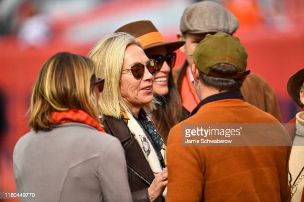 Cleveland Browns coowner Susan Haslam on field before game vs Denver Broncos at Empower Field at Mile High Stadium Denver CO CREDIT Jamie Schwaberow
