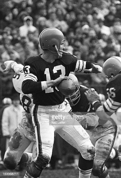 Cleveland Browns QB Frank Ryan in action vs St Louis Cardinals at Busch Memorial Stadium St Louis MO CREDIT Neil Leifer