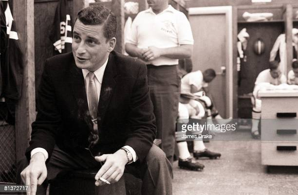 Football Closeup of Cleveland Browns owner Art Modell in locker room Cleveland OH 9/29/1963