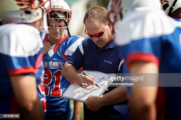 football coach and players - coach stock pictures, royalty-free photos & images