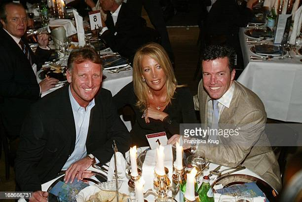 Football coach Andreas Brehme wife Pilar and Lothar Matthäus At The Premiere Of Palazzo Witzigmann In Munich