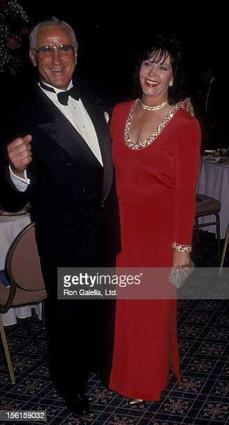 Football Coach Don Shula and Mary Anne Stephens attend Don Shula Celebrity Classic Golf Tournament Dinner on February 25 1994 at the Fountainbleau...