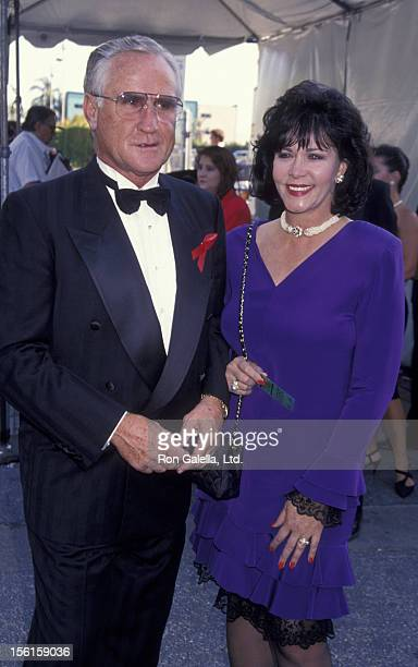 Football Coach Don Shula and wife Mary Anne Gifford attend Third Annual Jim Thorpe Pro Sports Awards on July 11 1994 at the Wiltern Theater in Los...