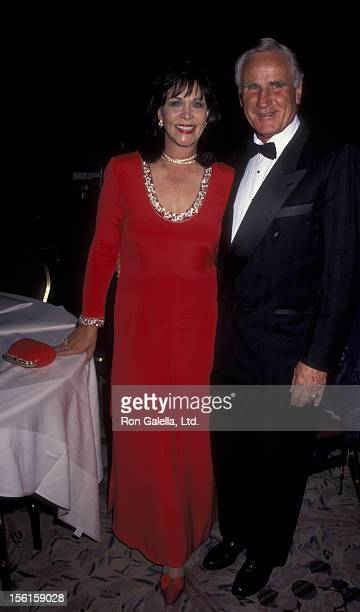 Football Coach Don Shula and wife Mary Anne Stephens on April 16 1996 at the New York Hilton Hotel in New York City