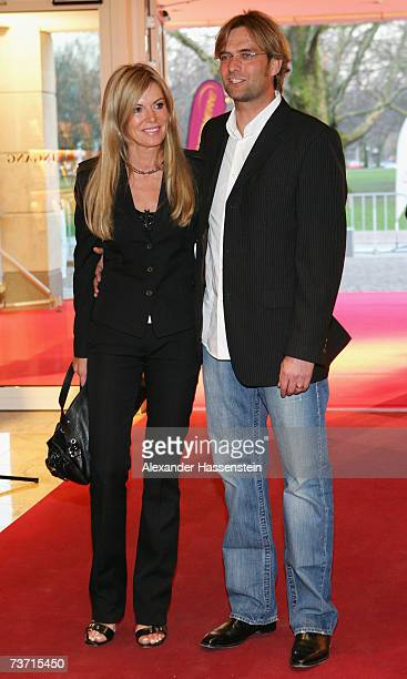 Football Coach Juergen Klopp arrives with his wife Ulla Klopp at the Herbert Award 2006 Gala at the Elysee Hotel on March 26 2007 in Hamburg Germany