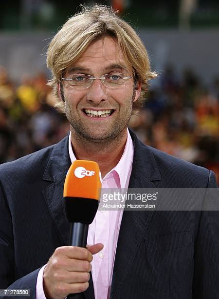 Football coach Juergen Klopp who appears as a World Cup commentator on German TV Channel ZDF poses on June 22 2006 in Berlin Germany