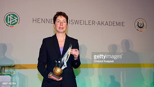 Football coach Maren Meinert was honoured as the coach of the year of the German Football Association during the coaching award ceremony and closing...