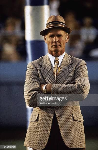 College AllStar Game Dallas Cowboys head coach Tom Landry on field before game vs 39th Annual College AllStars at Soldier Field Chicago IL 7/28/1972...
