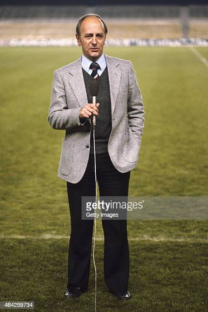 Football commentator and host of 'The Big Match' Brian Moore pictured circa 1979.