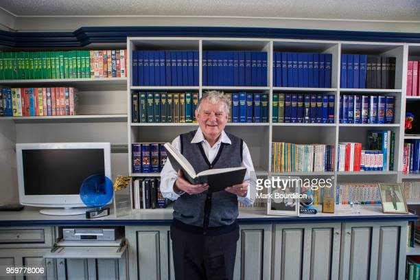 Football commentator John Motson is photographed on April 9 2015 near Aylesbury England