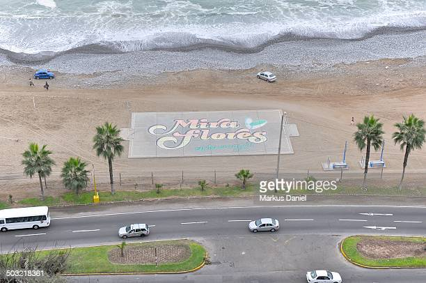 "football (soccer) court at miraflores beach - ""markus daniel"" stockfoto's en -beelden"