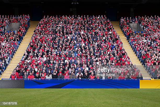 football crowd in stadium - stadium stock pictures, royalty-free photos & images
