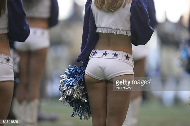 Football Dallas Cowboys cheerleader during game vs New Orleans Saints Irving TX