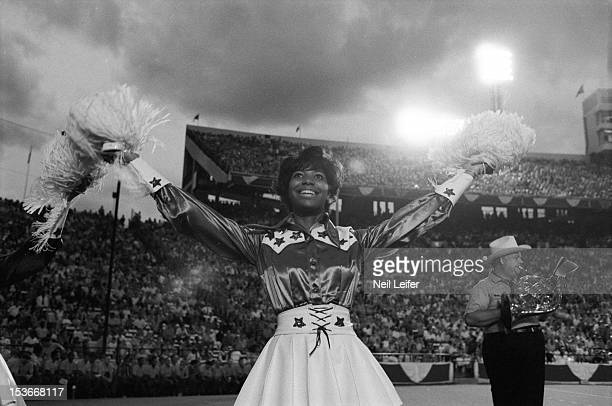 Dallas Cowboys cheerleaders during preseason game vs Green Bay Packers at Cotton Bowl Stadium Dallas TX CREDIT Neil Leifer