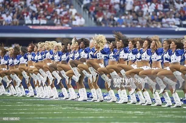Dallas Cowboys cheerleaders on field during game vs San Francisco 49ers at ATT Stadium Arlington TX CREDIT Greg Nelson