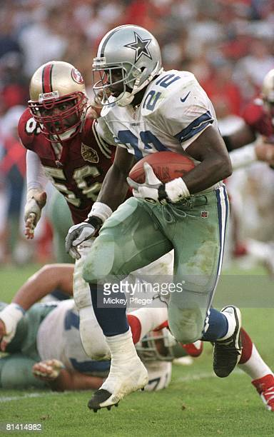 Football Dallas Cowboys Emmitt Smith in action rushing vs San Francisco 49ers San Francisco CA