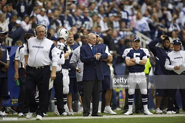 Dallas Cowboys owner and general manager Jerry Jones on sidelines during game vs San Francisco 49ers Irving TX CREDIT Bob Rosato