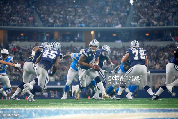 Dallas Cowboys QB Dak Prescott in action vs Los Angeles Chargers at ATT Stadium Arlington TX CREDIT Greg Nelson