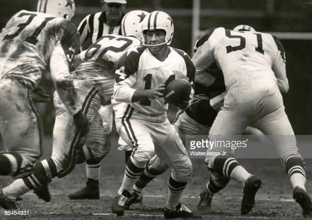 Dallas Cowboys QB Eddie LeBaron in action vs Pittsburgh Steelers Pittsburgh PA 9/24/1960 CREDIT Walter Iooss Jr