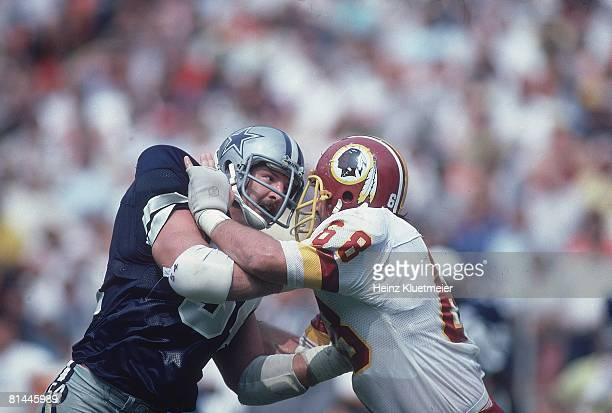Football Dallas Cowboys Randy White in action vs Washington Redskins Irving TX 9/8/1981