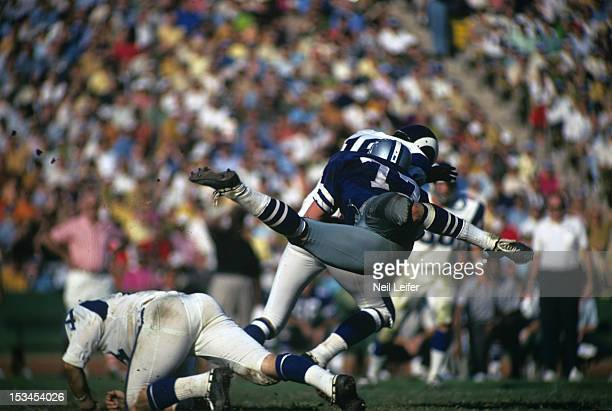 Dallas Cowboys Ron East in action, making sack vs Los Angeles Rams QB Roman Gabriel at Los Angeles Memorial Coliseum. Los Angeles, CA CREDIT: Neil...