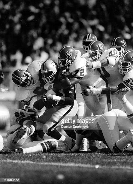 SEP 25 1983 SEP 26 1983 Football Denver Broncos Kenny king discovers effectiveness of Denver Defense the hard way