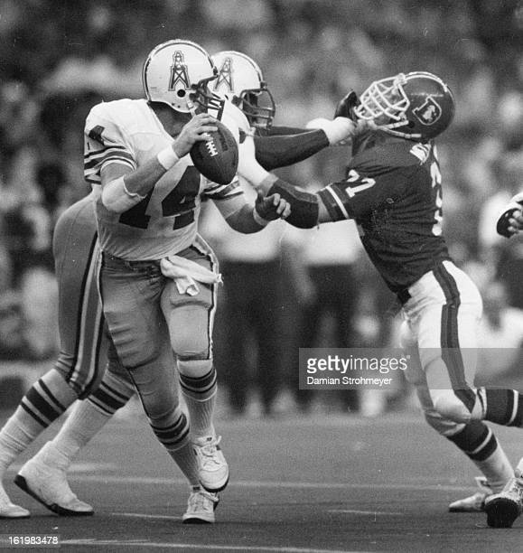 SEP 8 1983 OCT 10 1983 Football Denver Broncos Oilers quarterback Gifford Nielsen played well enough Sunday against the Broncosexcept for one big...